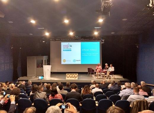 Conferència d'Alfons Aliberti prèvia a l'Assemblea General de Cooperatives Europa, que ha tingut lloc a Estrasburg
