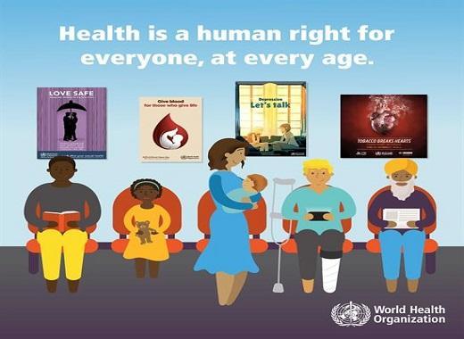 World health day social card human right
