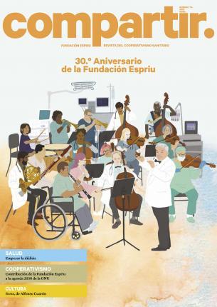 Portada del número 114 de la revista Compartir que destaca el 30 aniversario de la fundación