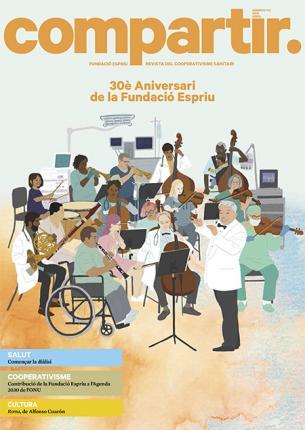 portada del número 114 de la revista compartir en la qual es destaca el 30 aniversari de la fundació