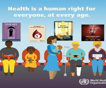 World health day social card human right